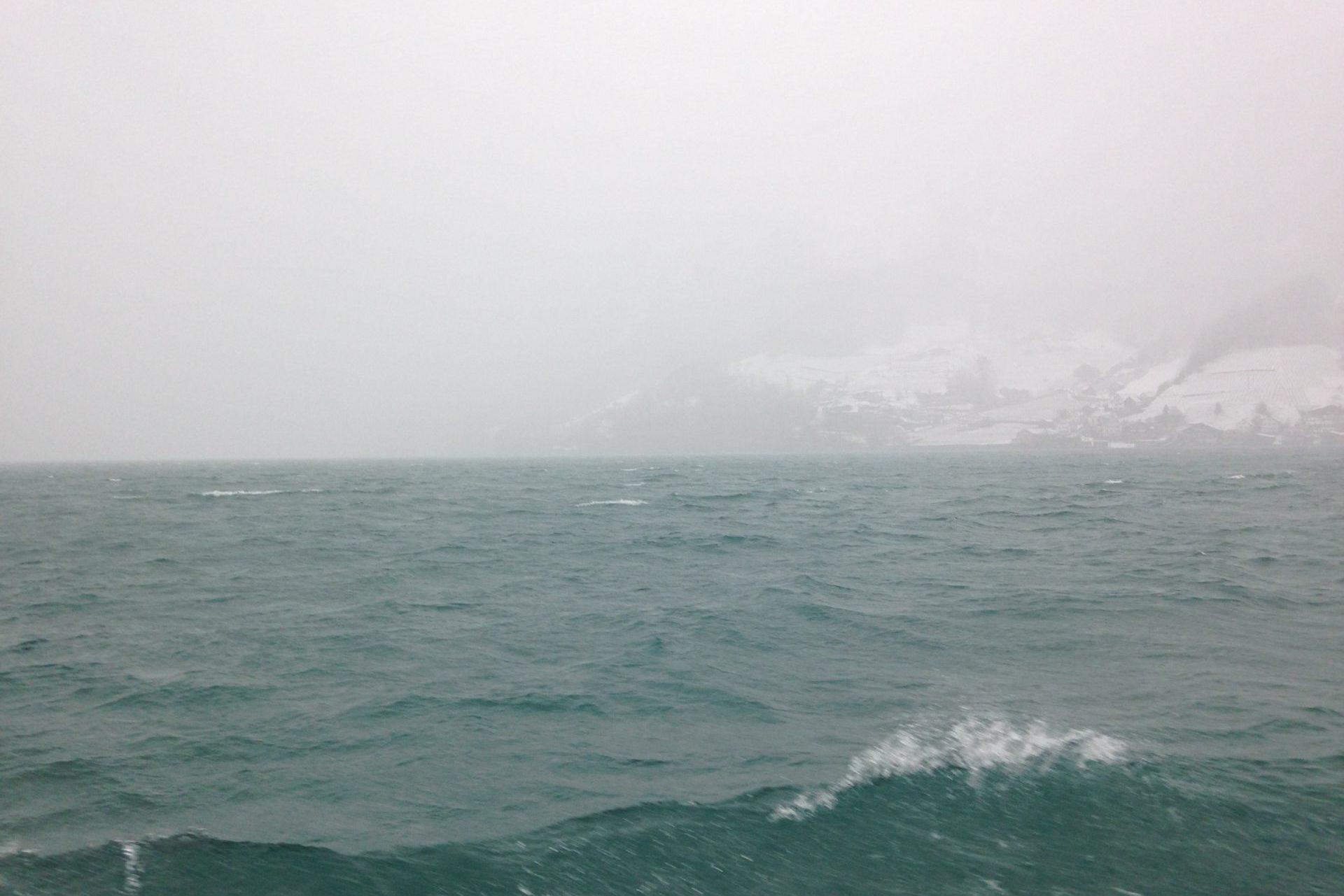 Wintersturm Auf Dem Walensee